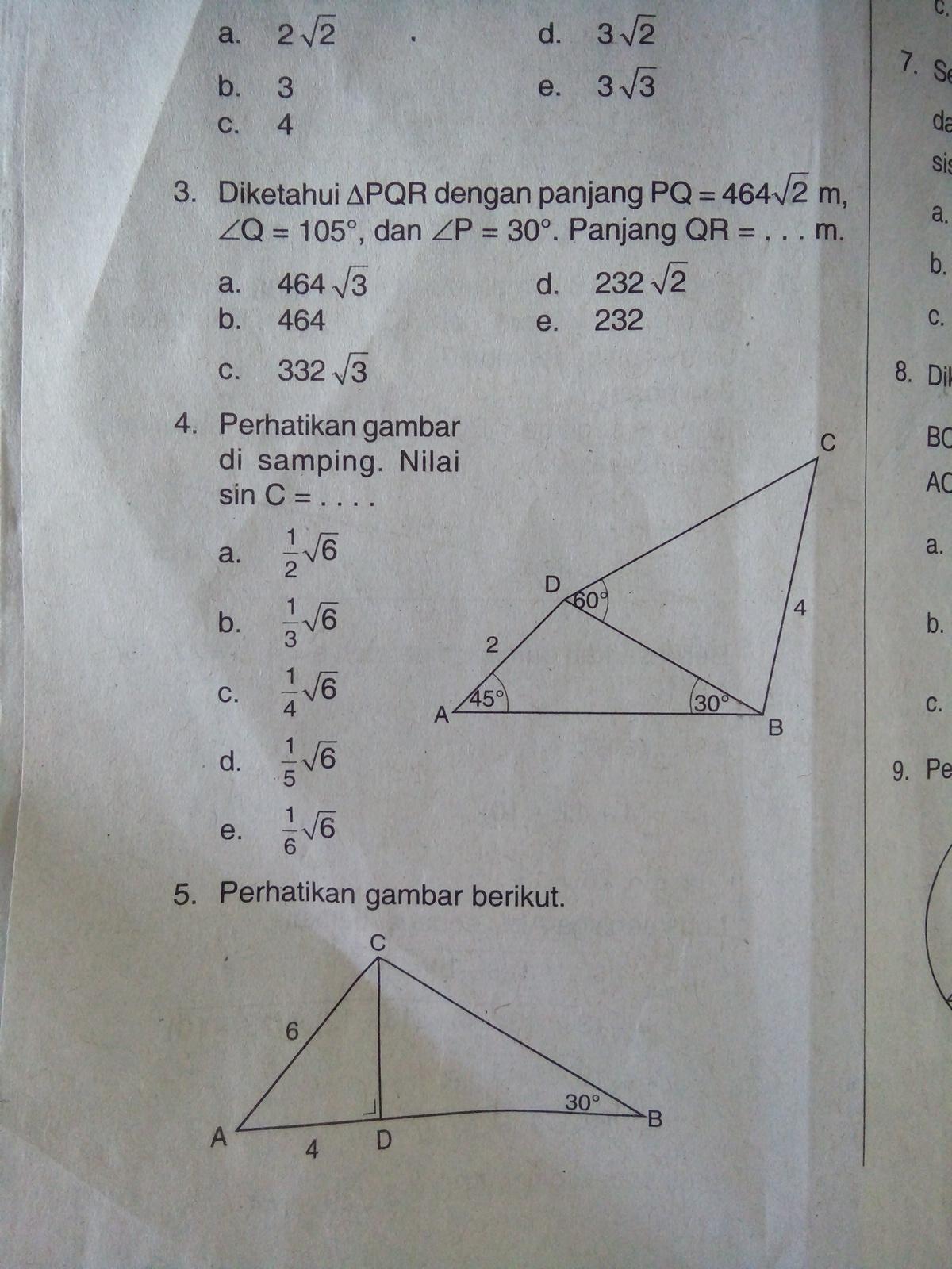 Luas Segitiga Trigonometri : segitiga, trigonometri, Tolong, Berikan, Caranya, Trigonometri, Segitiga, Brainly.co.id