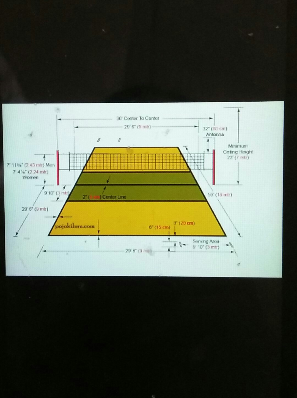 Gambar Lapangan Bola Voli Beserta Ukurannya : gambar, lapangan, beserta, ukurannya, Ukuran, Gambar, Lapangan, Brainly, Kumpulan, Materi, Pelajaran, Contoh