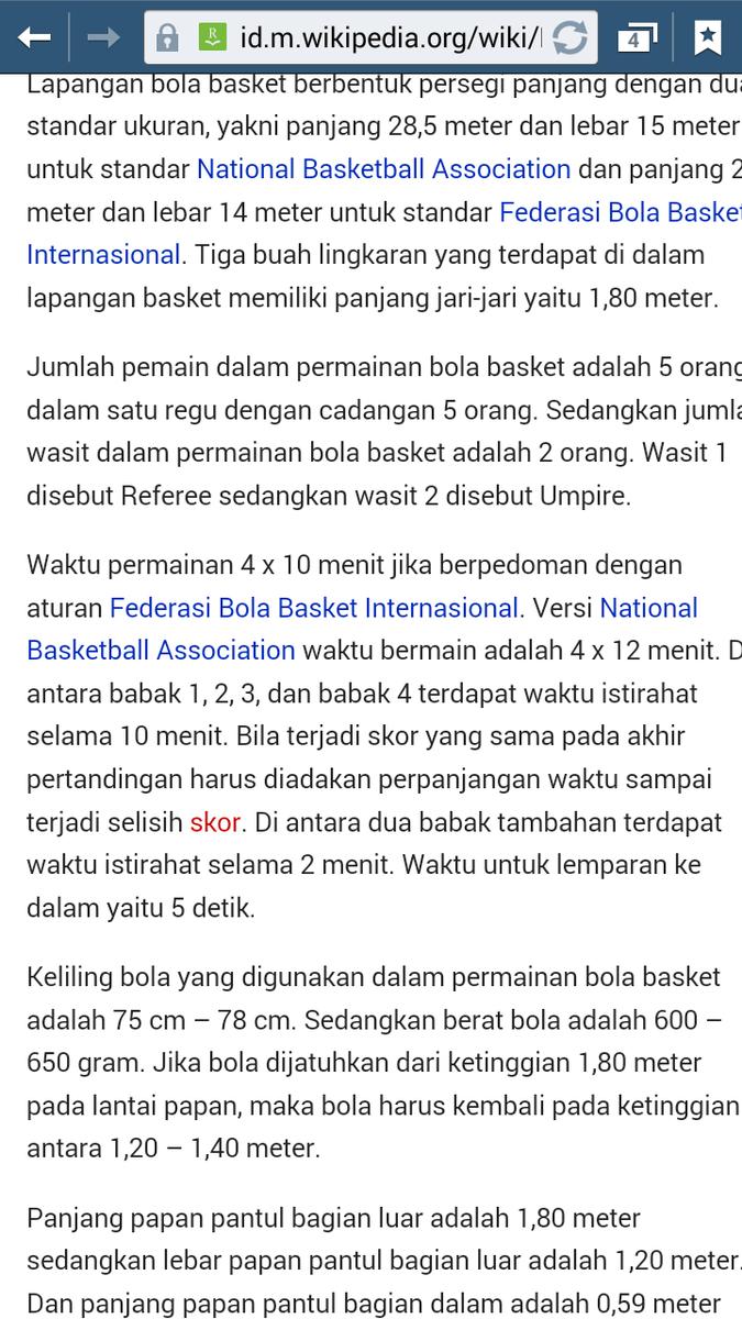 Lama Permainan Bola Basket Menghabiskan Waktu Berapa Menit
