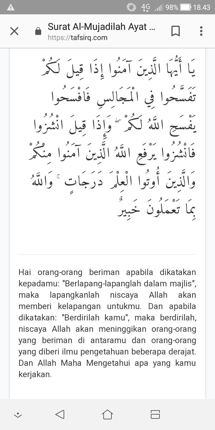 Al-mujadilah Ayat 11 : al-mujadilah, Surat, Mujadilah, Terjemahnya,, Tolong, Brainly.co.id