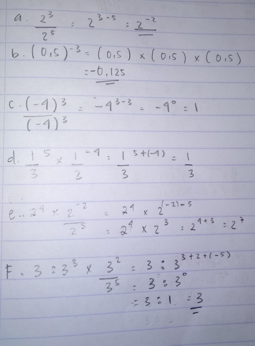 Sederhanakanlah Bentuk Pangkat Berikut : sederhanakanlah, bentuk, pangkat, berikut, Sederhanakan, Bentuk, Pangkat, Berikut., 2³/2⁵, (0,5)⁻³, (-4)³/(-4)³, 1/3⁵ₓ, 1/3⁻⁴, 2⁴ₓ, Brainly.co.id