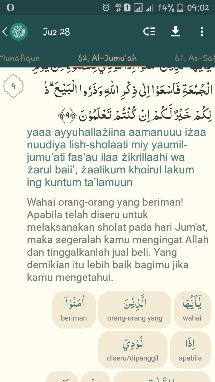 Al Jumuah Ayat 9 : jumuah, Jelaskan, Perintah, Allah, Sesuai, Surah, Jumuah, Brainly.co.id