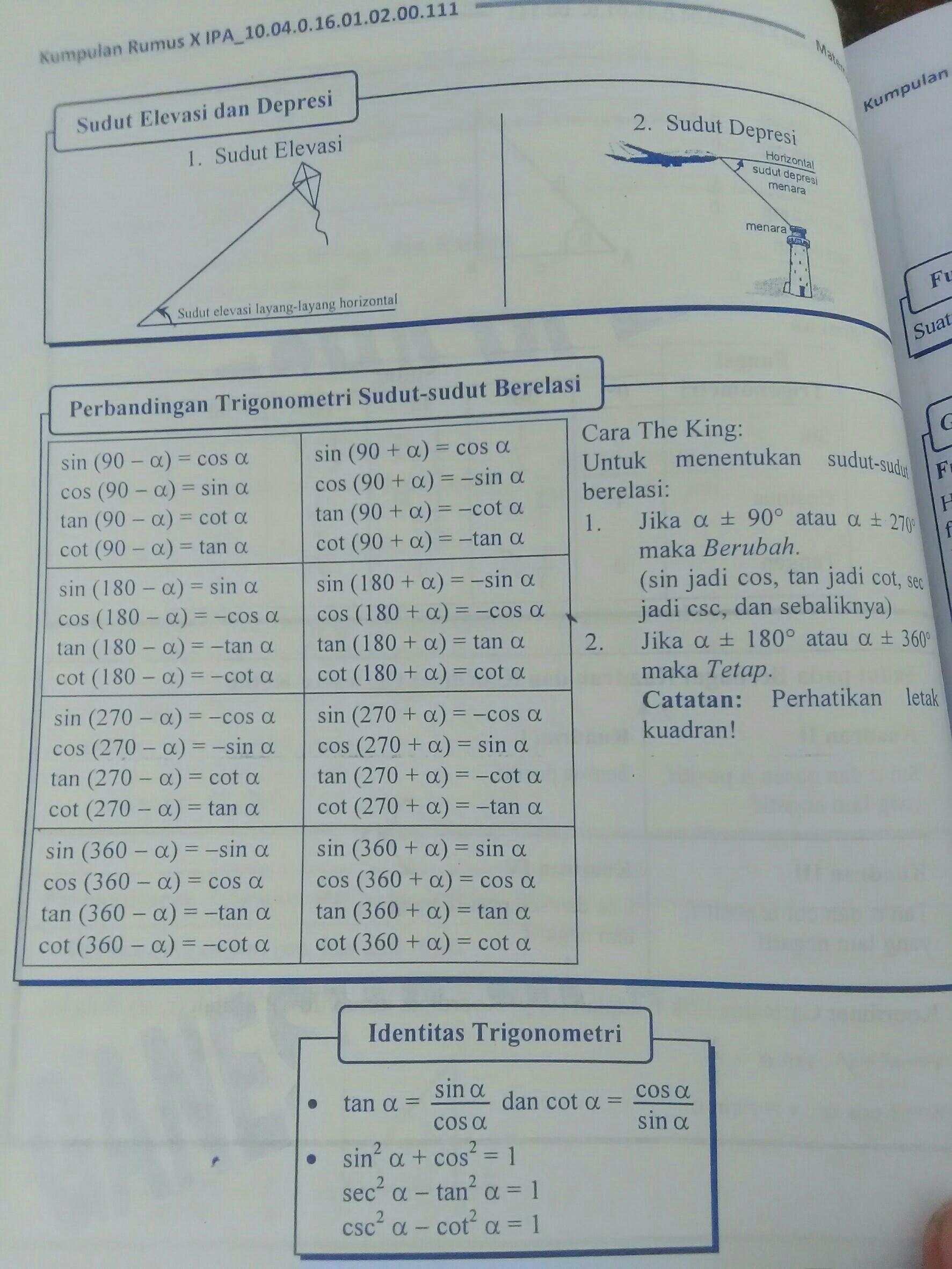 Perbandingan Trigonometri Sudut Berelasi : perbandingan, trigonometri, sudut, berelasi, Tuliskan, Rumus, Perbandingan, Trigonometri, Sudut, Berelasi, Dalam, Ukuran, Radian., A.sin(Π-a), Brainly.co.id