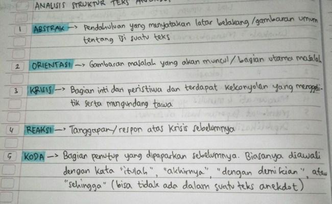 Struktur Teks Laporan Percobaan Resep Kuini