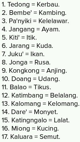 Nama Hewan Dari A Sampai Z : hewan, sampai, Hewan, Dalam, Bahasa, Makassar, Brainly.co.id