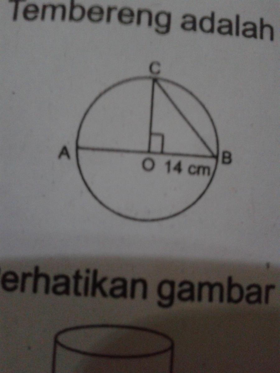 Luas Tembereng Lingkaran : tembereng, lingkaran, Tembereng, Jarinya, ,gambarnya, Diatas, Brainly.co.id