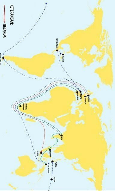 Peta Perjalanan Bangsa Eropa Ke Indonesia : perjalanan, bangsa, eropa, indonesia, Buatlah, Jalur, Pelayaran, Kedatangan, Bangsa, Eropa, Indonesia, Brainly.co.id