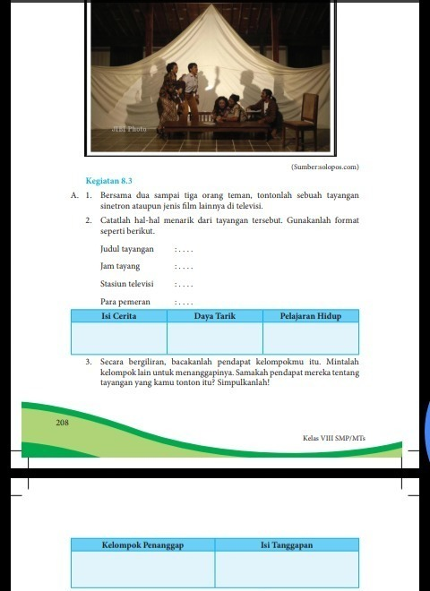 Kegiatan 8.5 Bahasa Indonesia Kelas 8 Semester 2 : kegiatan, bahasa, indonesia, kelas, semester, Tolong, Dibantu, Kegiatan, Kelas, Kurikulum, Brainly.co.id