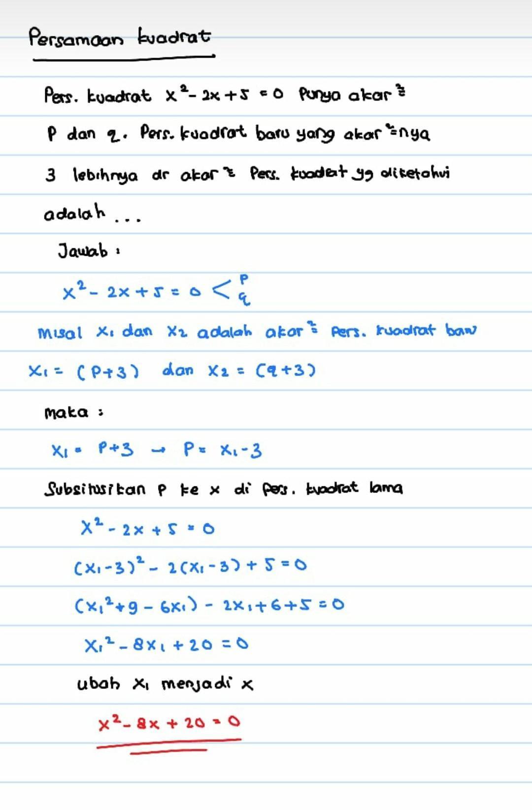 Jika Diketahui Akar Persamaan Kuadrat Adalah 3 Dan 5 Maka Persamaan Kuadratnya Adalah : diketahui, persamaan, kuadrat, adalah, kuadratnya, Diketahui, Persamaan, Kuadrat, Mempunyai, Akar-akar, Persamaankuadrat, Brainly.co.id