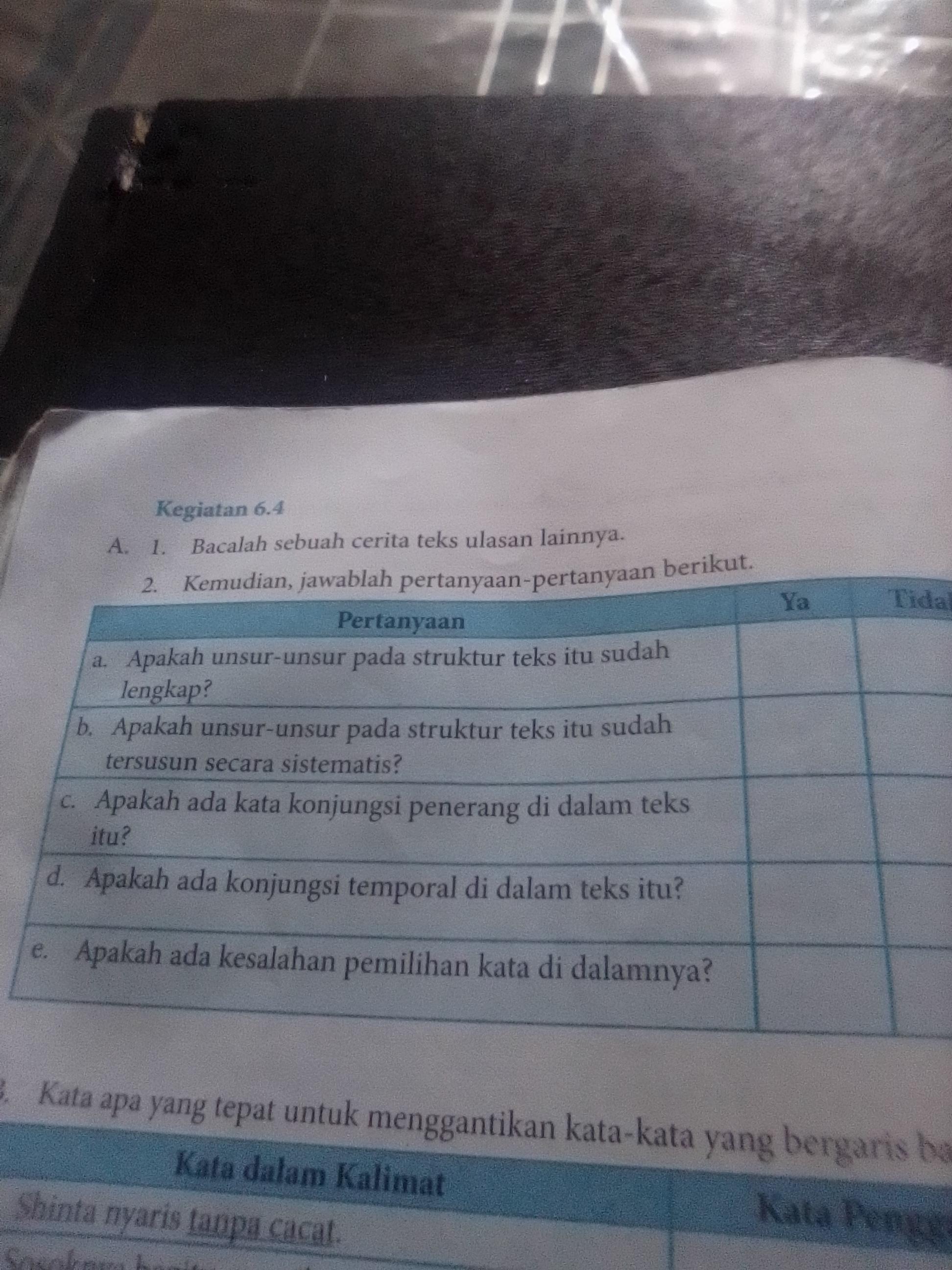 Jawaban Bahasa Indonesia Kelas 8 Semester 2 Kegiatan 6 4
