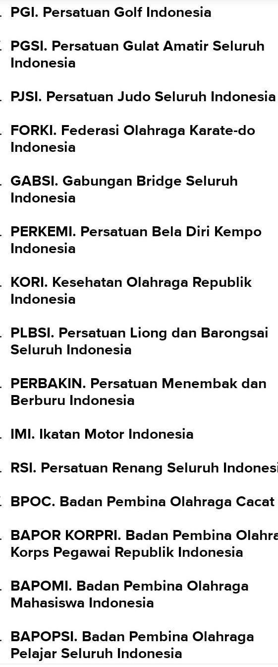 Induk Organisasi Cabang Olahraga Atletik Di Indonesia Adalah : induk, organisasi, cabang, olahraga, atletik, indonesia, adalah, Membuat, Macam, Induk, Organisasi, Olahraga, Nasional, Internasional, Brainly.co.id
