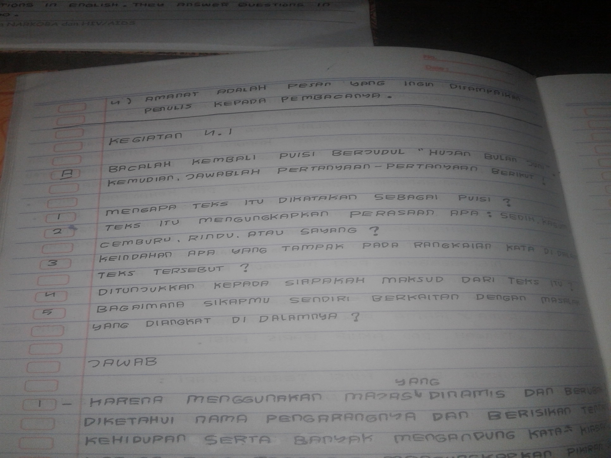 Mohon Jawaban Buku Bahasa Indonesia Kelas 8
