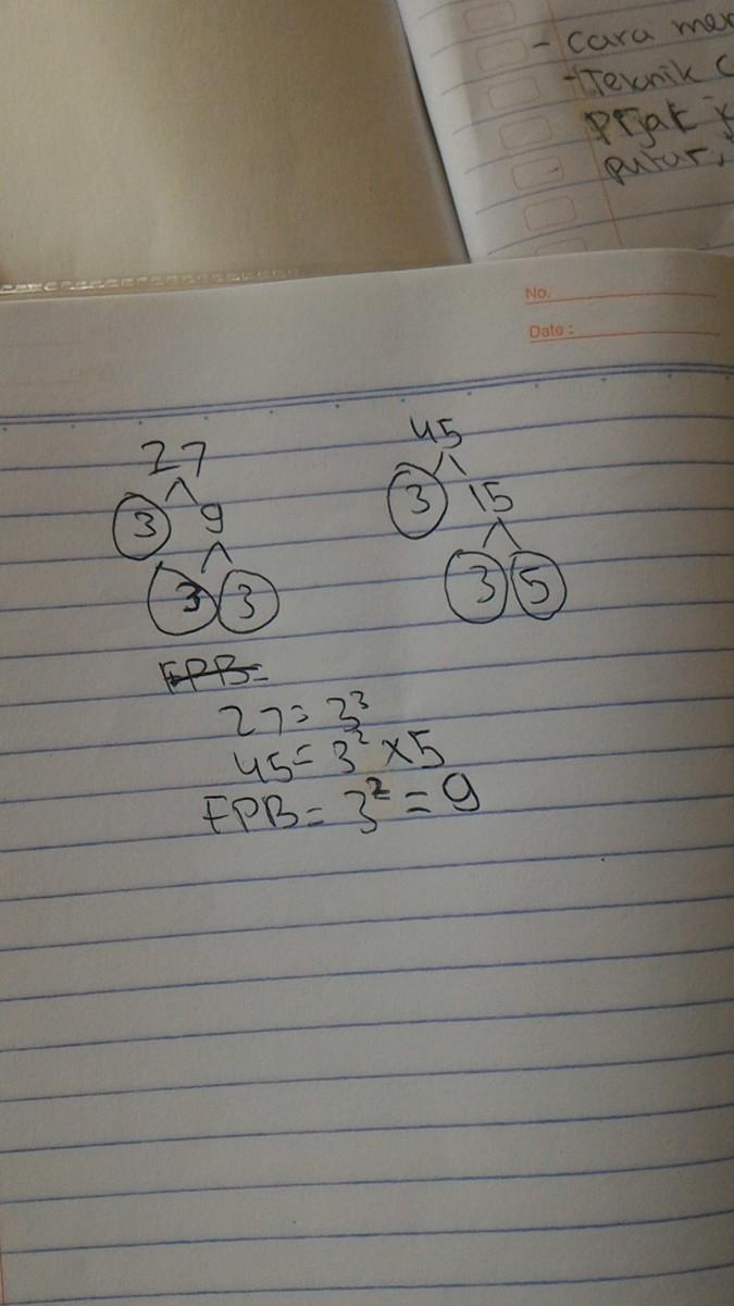 Kpk Dari 27 Dan 45 Adalah : adalah, Dengan, Pohon, Faktor, Brainly.co.id