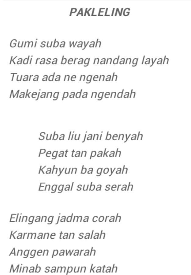Puisi Lingkungan Hidup Bahasa Jawa | KAINSUTERA.COM