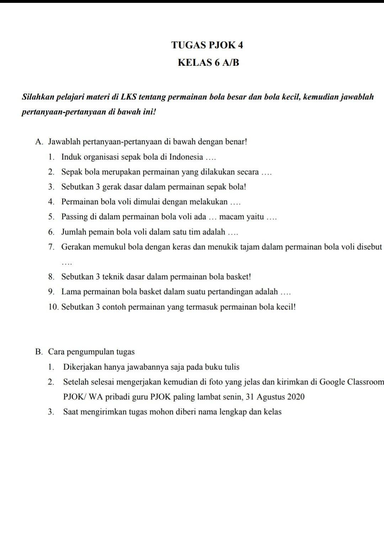 Nama Organisasi Bola Voli : organisasi, Sebutkan, Organisasi, Sepak, Indonesia