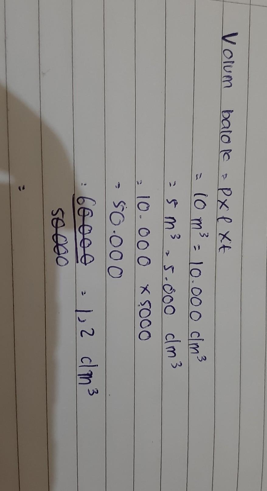 1 Liter Berapa Dm : liter, berapa, Panjang, Meter, Lebar, Volume, Kolam, 60000, Liter, Berapa, Kedalaman, Brainly.co.id