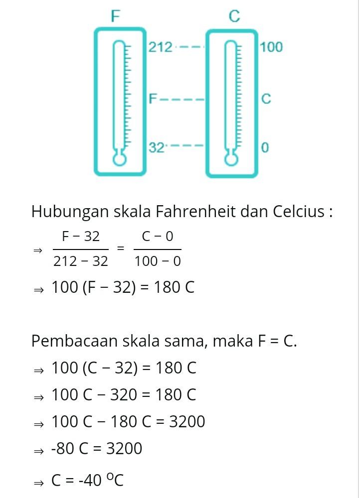 Perbandingan Skala Termometer : perbandingan, skala, termometer, Pembacaan, Skala, Termometer, Fahrenheit, Dengan, Celcius, Suhu?, Tolong, Brainly.co.id