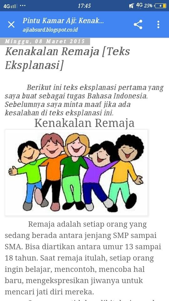 Teks Eksplanasi Kenakalan Remaja : eksplanasi, kenakalan, remaja, Eksplanasi, Tentang, Kenakalan, Remaja, Brainly.co.id