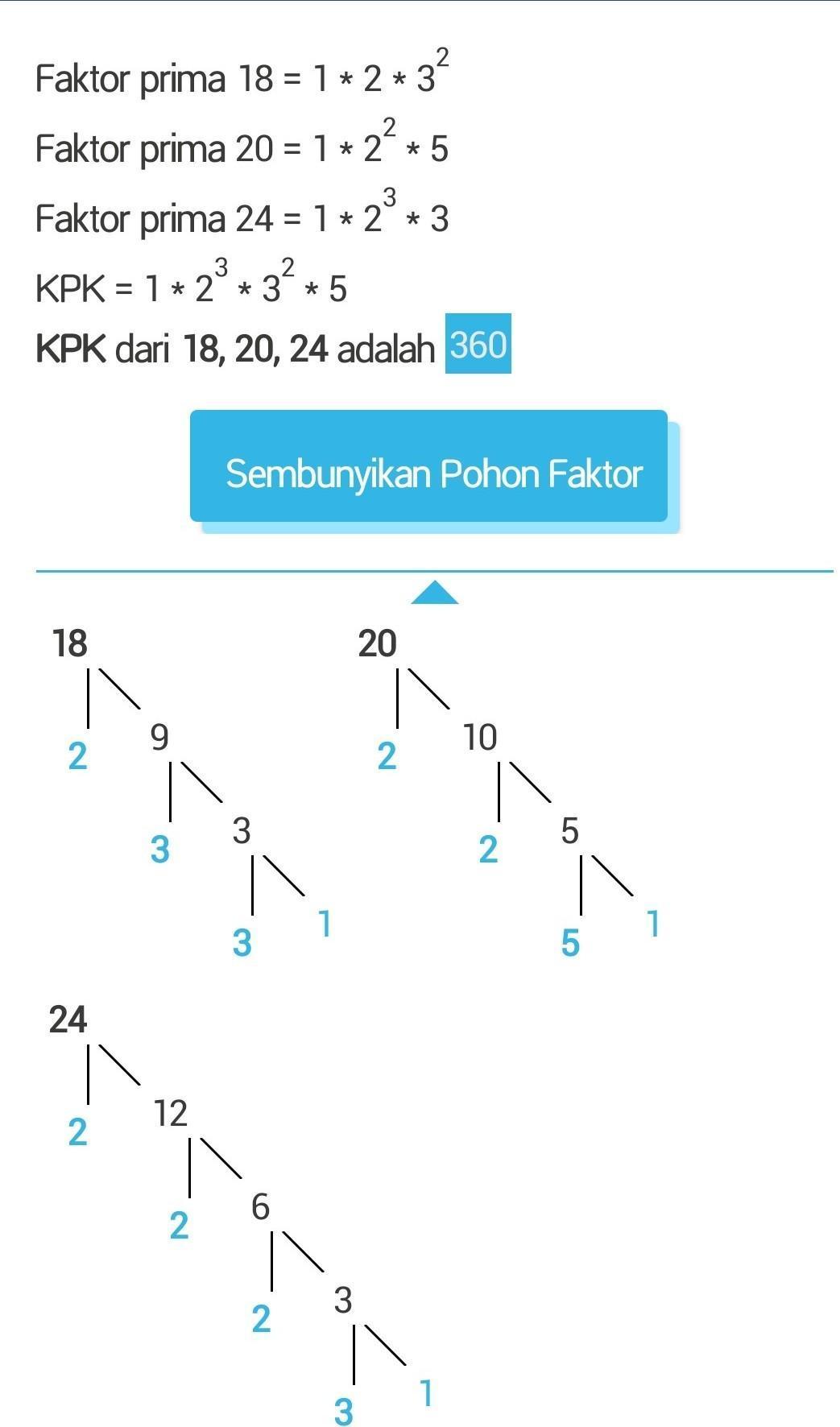 Rumus Pohon Faktor : rumus, pohon, faktor