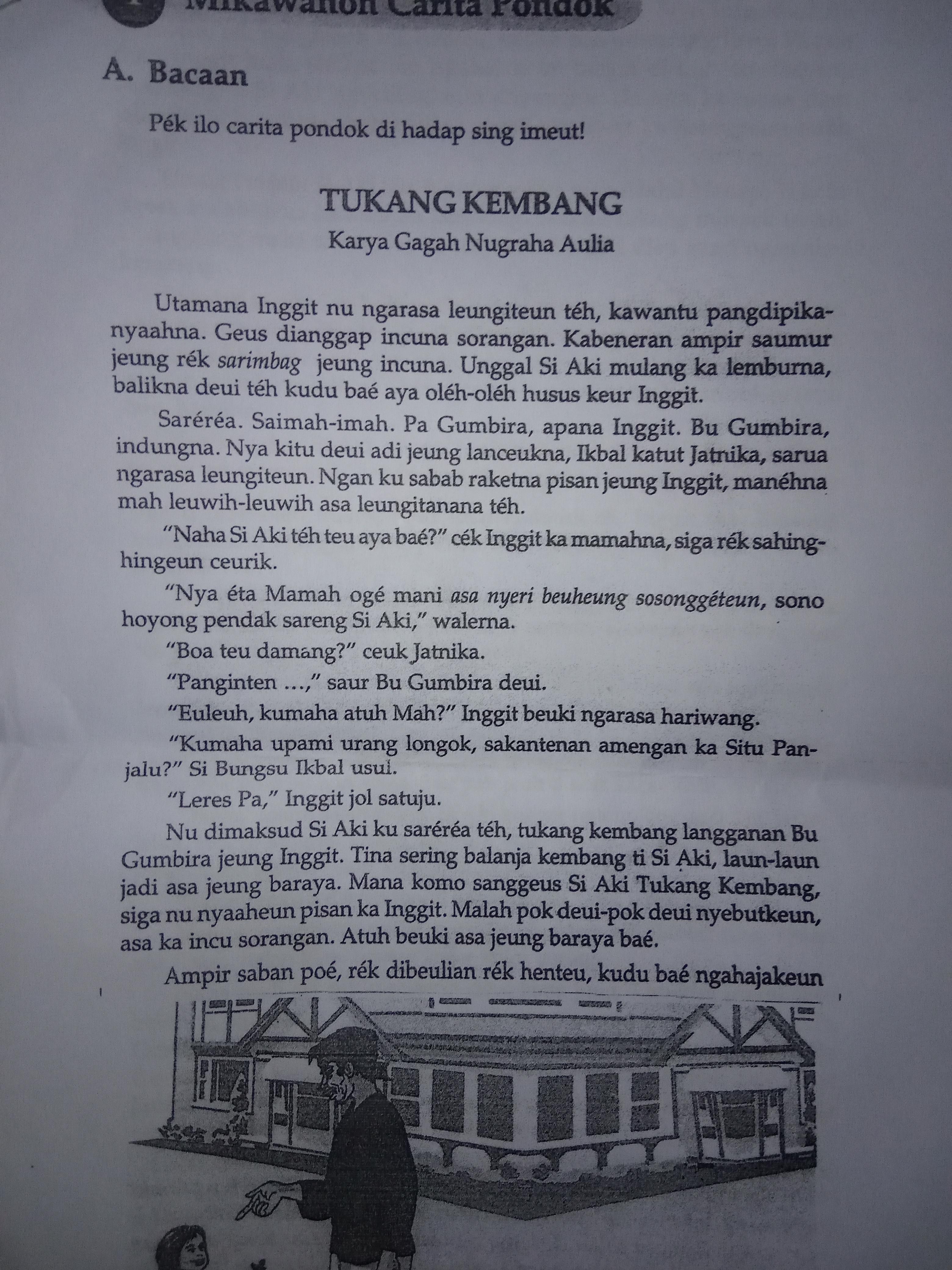 Carita Pondok Bahasa Sunda : carita, pondok, bahasa, sunda, Nganalisis, Carita, Pondok, Tukang, Kembang, Tulis, Sunda, Sareng, Upload, Brainly.co.id