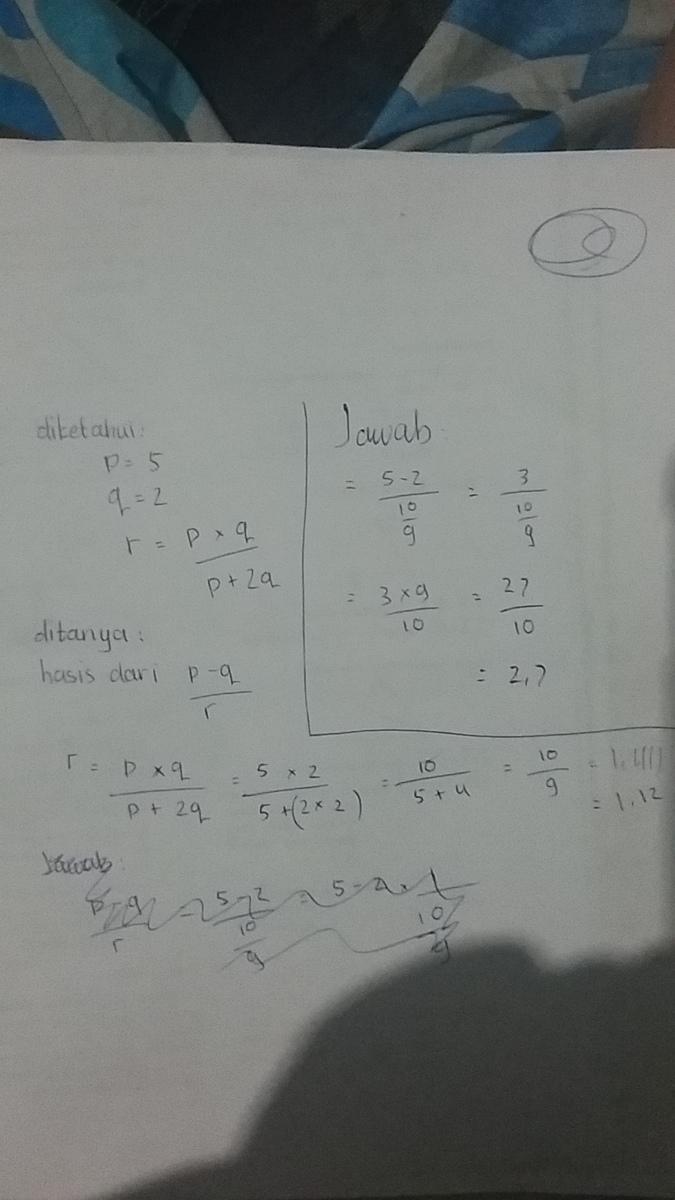 Jika P : Serta, R=p×q, P+2q,, Tentukan, Hasil, Brainly.co.id
