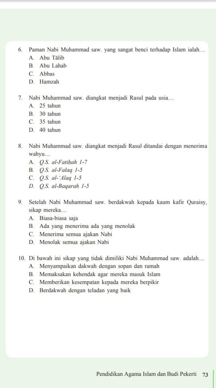 Paman Nabi Muhammad Saw : paman, muhammad, Tolong, Jawab, Dengan, Benar, Ya..., Brainly.co.id