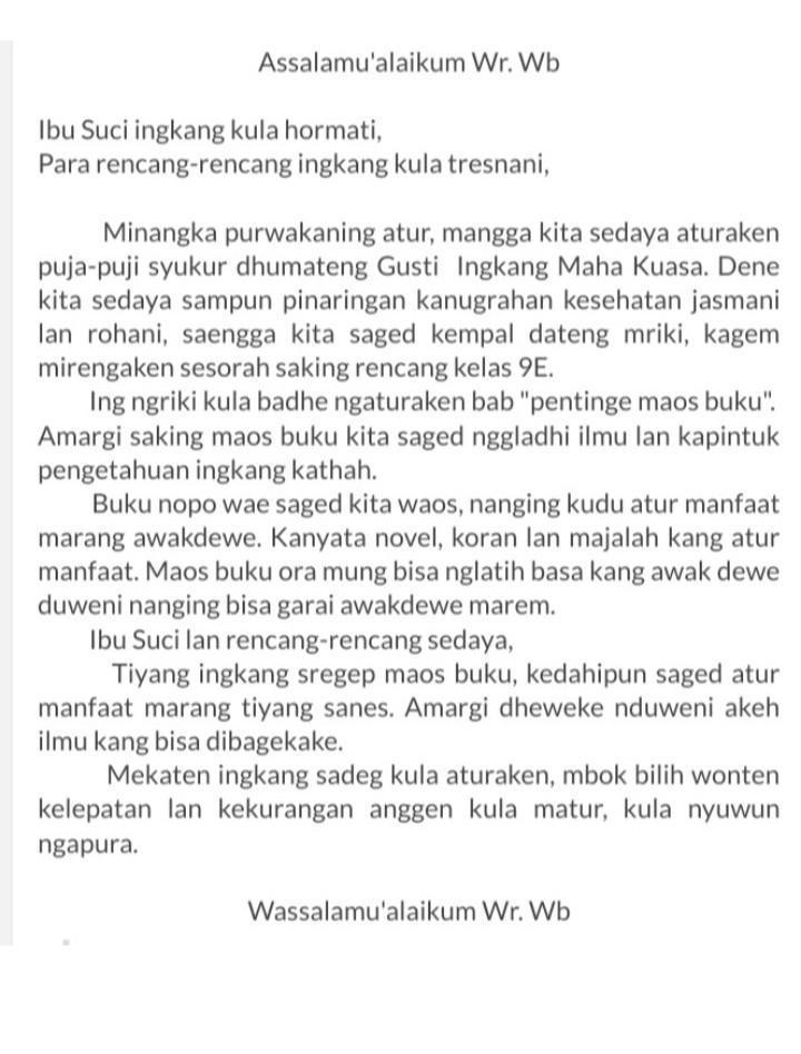 Contoh Teks Pidato Bahasa Jawa : contoh, pidato, bahasa, Contoh, Pidato, Bahasa, Dengan, Wirausaha., Tolong, Jawab, Brainly.co.id