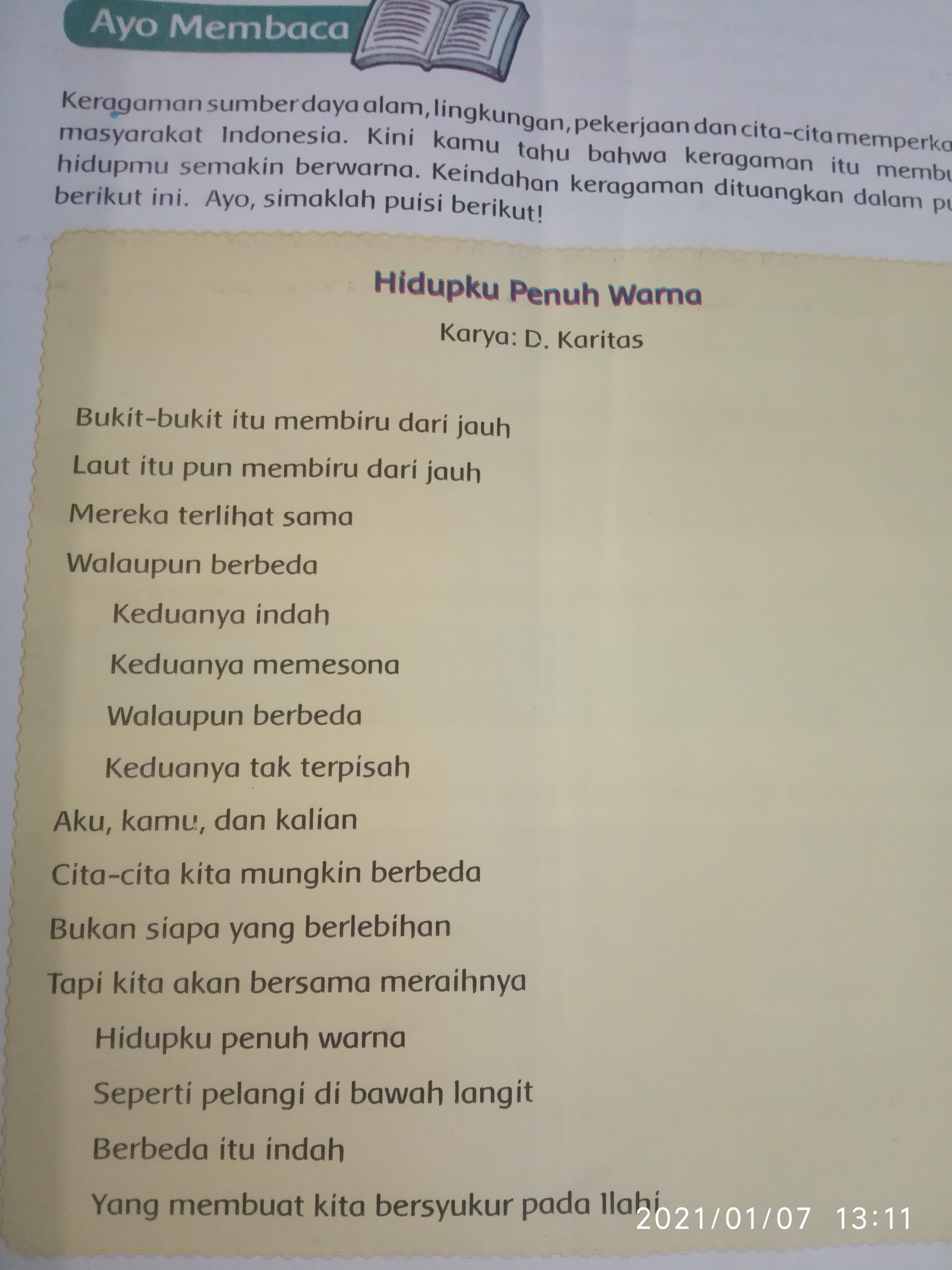 Rima Pada Puisi : puisi, Tentukanlah, Setiap, Puisi, Tersebut?, Mohon, Dibantu, Brainly.co.id