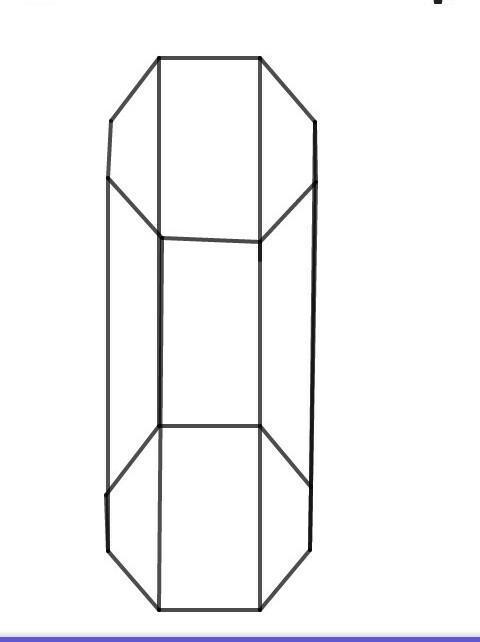 Hexagonal Prisma, Prisma Segi Delapan, Bersih gambar png
