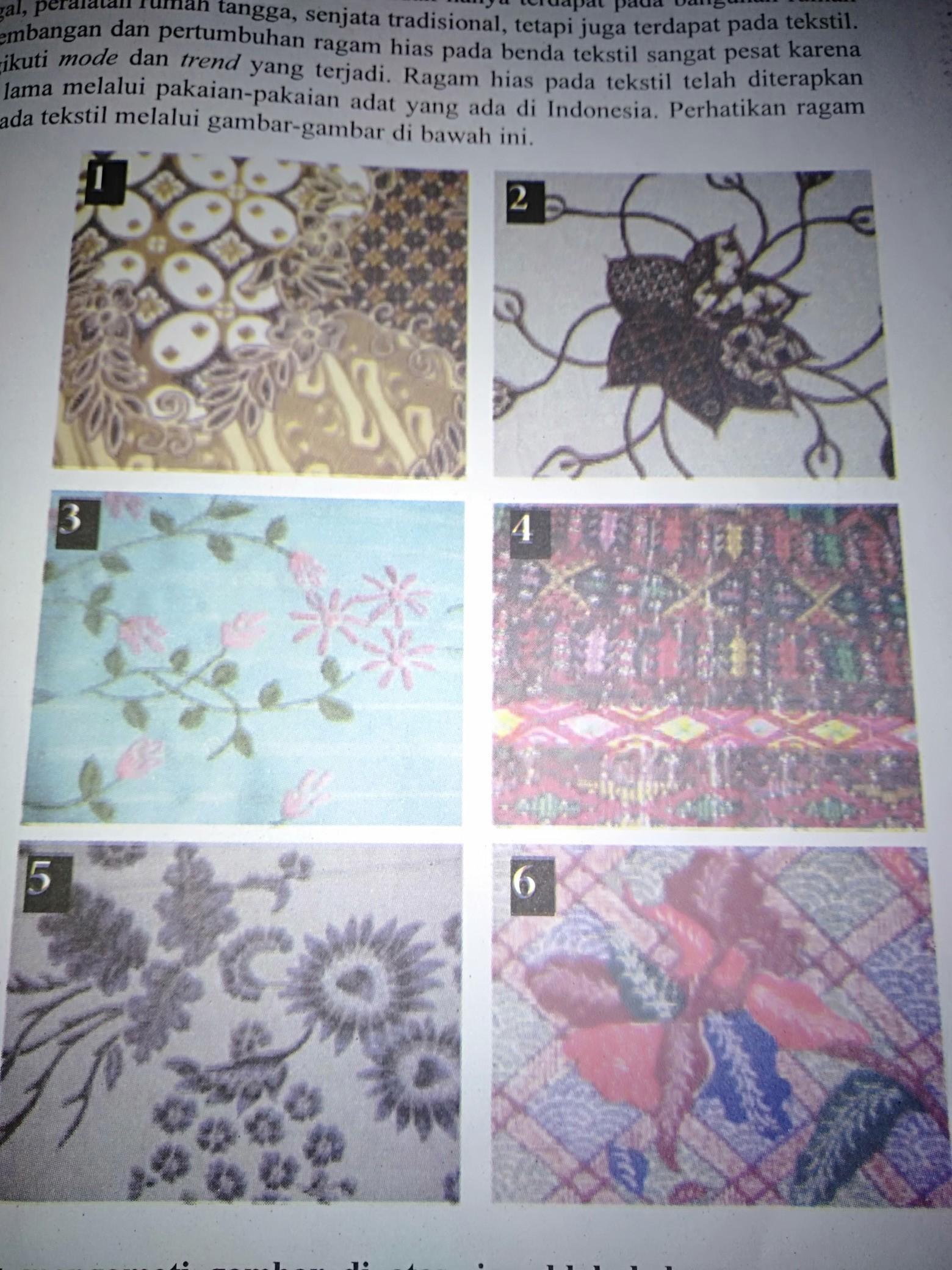 Teknik Menggambar Ragam Hias Pada Bahan Tekstil : teknik, menggambar, ragam, bahan, tekstil, Jenis, Ragam, Bahan, Tekstil