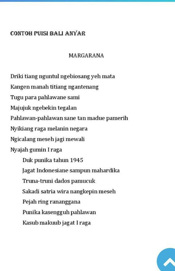 Puisi Bahasa Bali : puisi, bahasa, Buatin, Puisi, Anyar, Bulan, Bahasa, Brainly.co.id