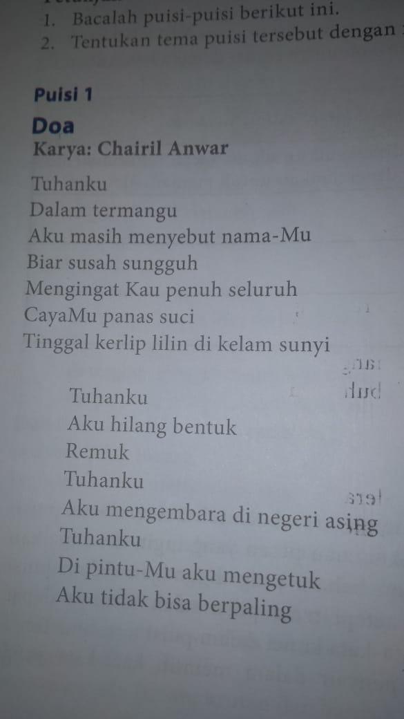 Doa Karya Chairil Anwar : karya, chairil, anwar, Analisis, Puisi, Berikut, Karya, Chairil, Anwar, Brainly.co.id