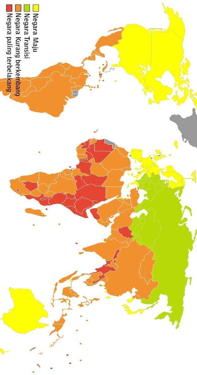 Peta Negara Maju : negara, Negara, Berkembang,tolong, Dikasi, Warna, Jelas, Brainly.co.id