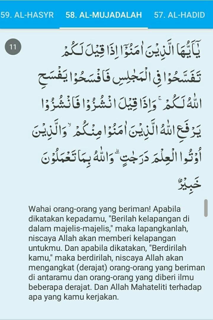 Al-mujadilah Ayat 11 : al-mujadilah, Syamsiyah, Qamariyah, Surat, Mujadalah, Brainly.co.id