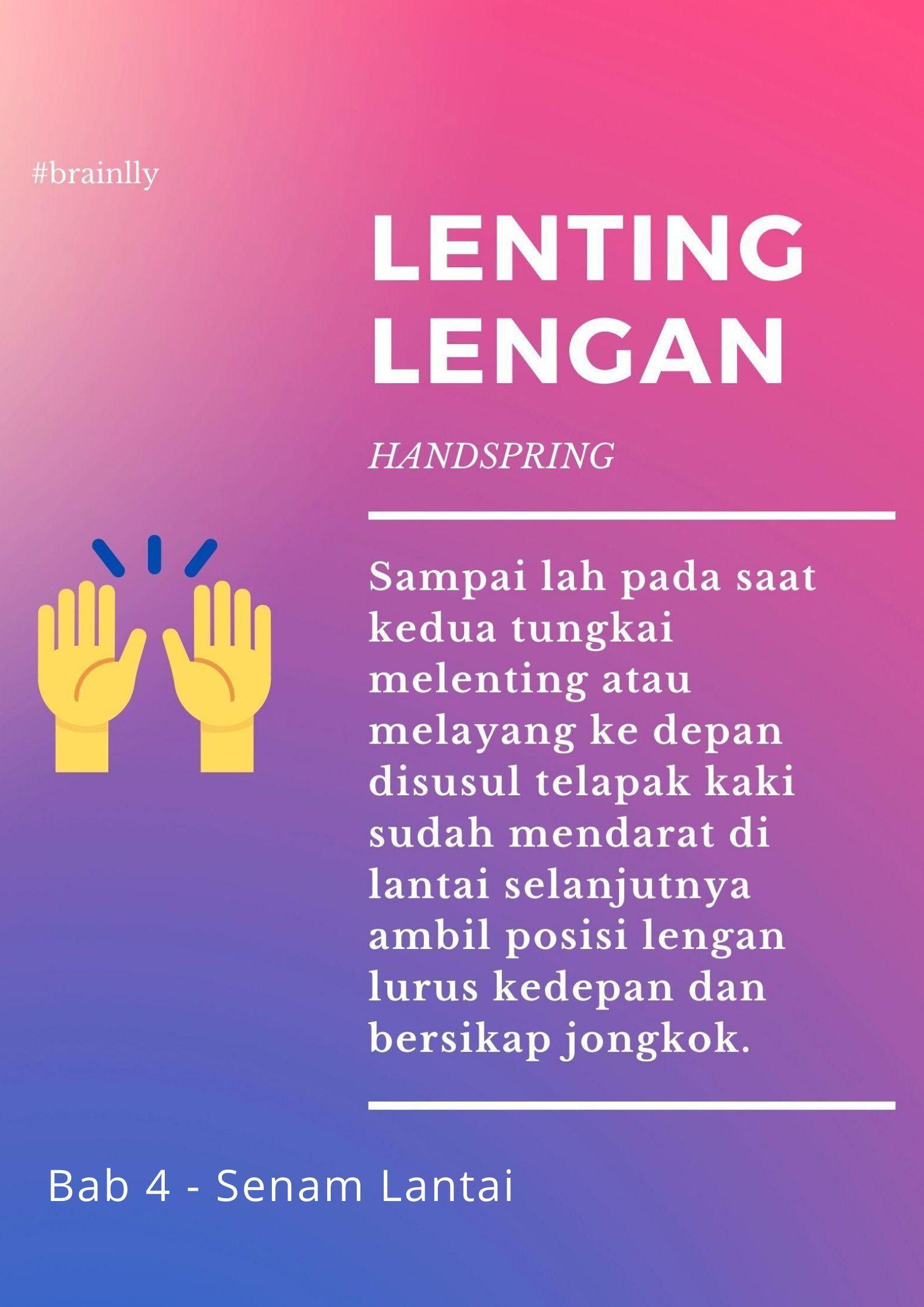 Cara Melakukan Gerakan Lenting Tangan : melakukan, gerakan, lenting, tangan, Lentig, Tangan, Diawali, Dengan, Gerakan, Brainly.co.id