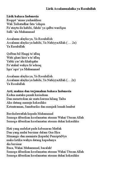 Lirik Habibi Ya Muhammad : lirik, habibi, muhammad, Lirik, Assalamu'alaika, Bahasa, Indonesia, Brainly.co.id