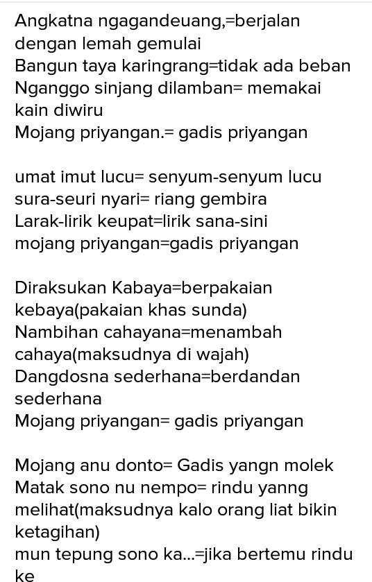 Download Mp3 Gratis Mojang Priangan : download, gratis, mojang, priangan, Lirik, Bahasa, Sunda, Mojang, Priangan, Arsia