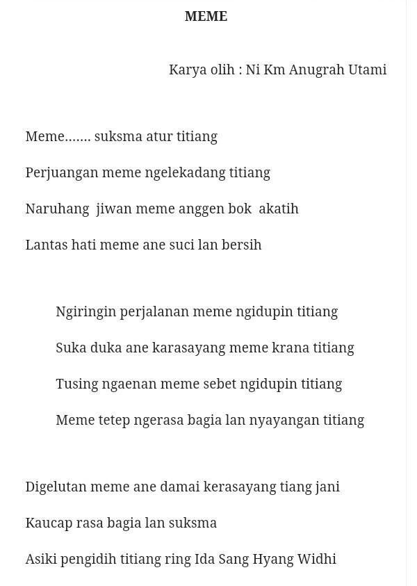 Pantun Bahasa Bali : pantun, bahasa, Kumpulan, Contoh, Puisi, Pendek, Terbaik