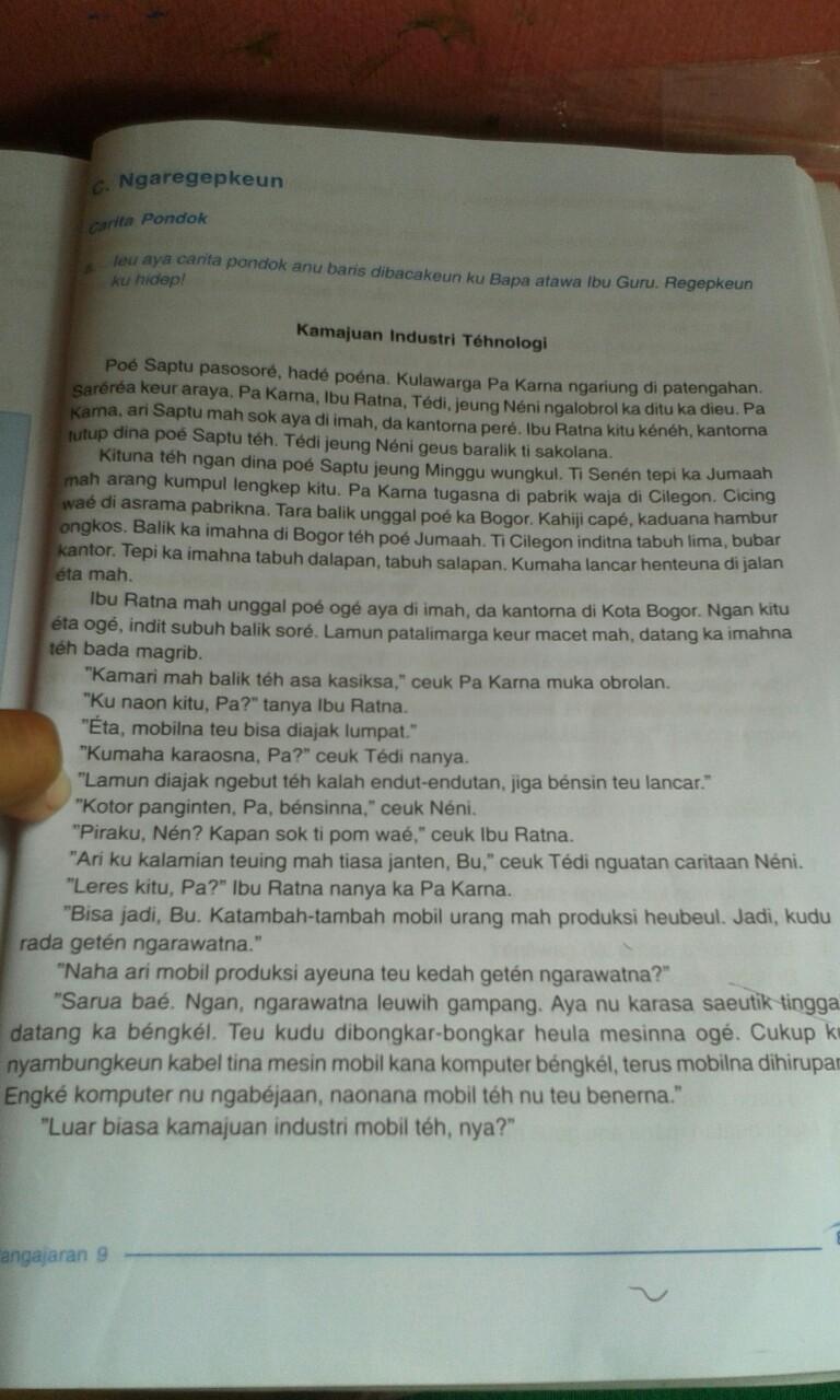 Pembelajaran Bahasa Sunda Pangajaran kahiji - Carita