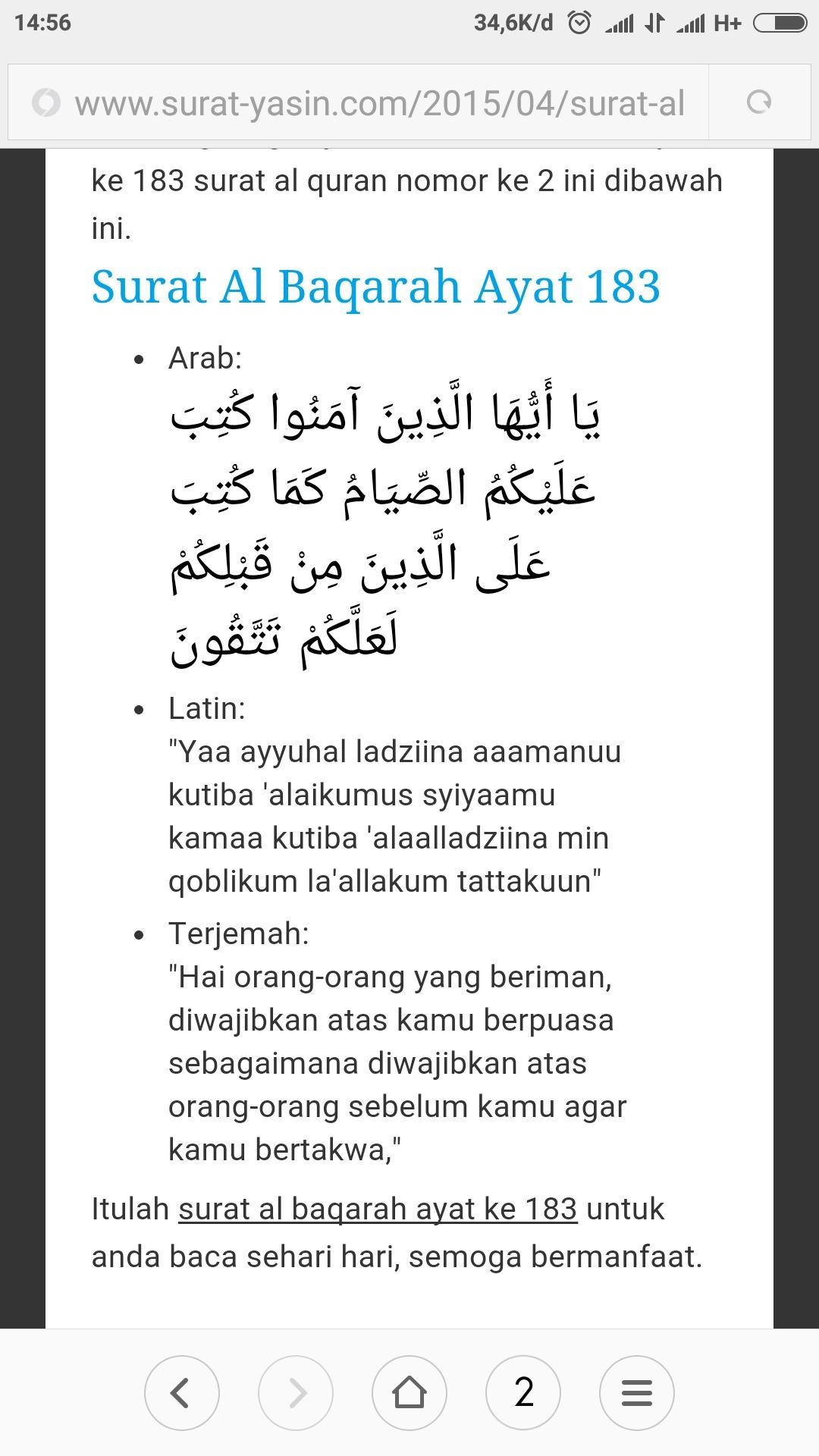 Al Baqarah Ayat 183 Dan Artinya : baqarah, artinya, Tuliskan, Surah, Baqarah, 183.., Brainly.co.id