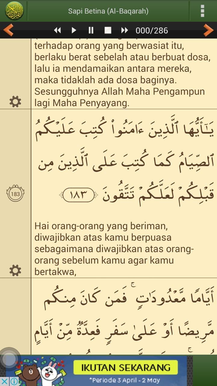 Surat Al Baqarah Ayat 183 Lengkap Latin dan Tafsir