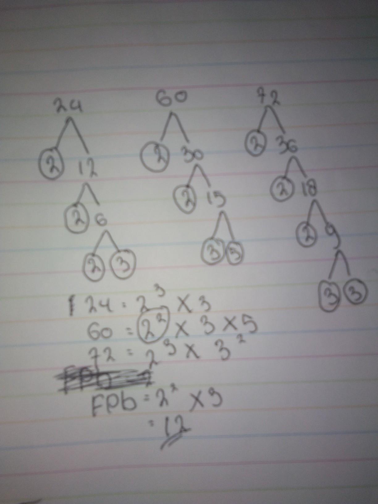 Fpb Dari 60 Dan 72 : Bilangan, 24,60,dan, Adalaha.10, B.12., C.24., Brainly.co.id