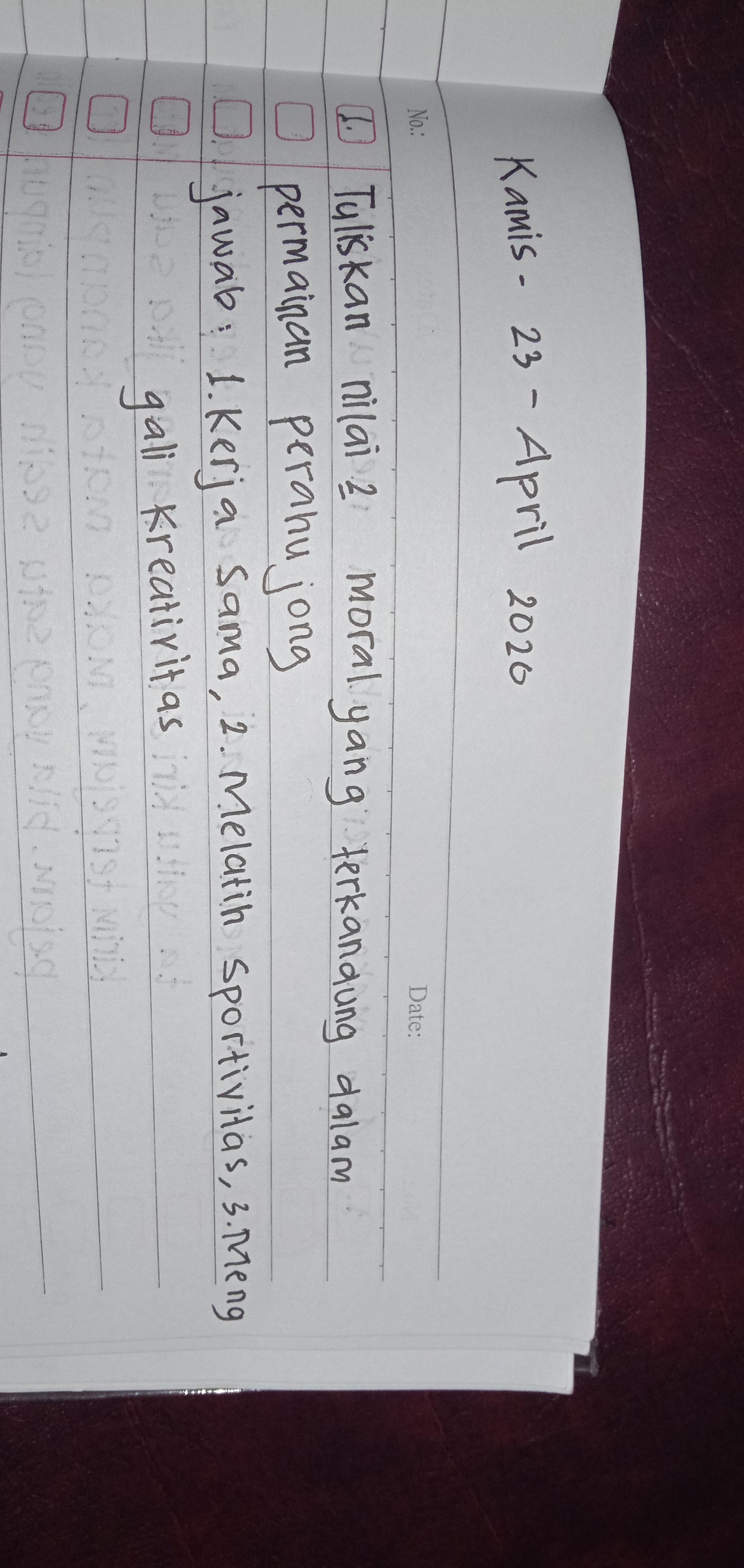 Tuliskan Nilai Nilai Moral Yang Terkandung Dalam Permainan Perahu Jong : tuliskan, nilai, moral, terkandung, dalam, permainan, perahu, Tuliskan, Nilai-nilai, Moral, Tekandung, Dalam, Permainan, Perahu, Brainly.co.id