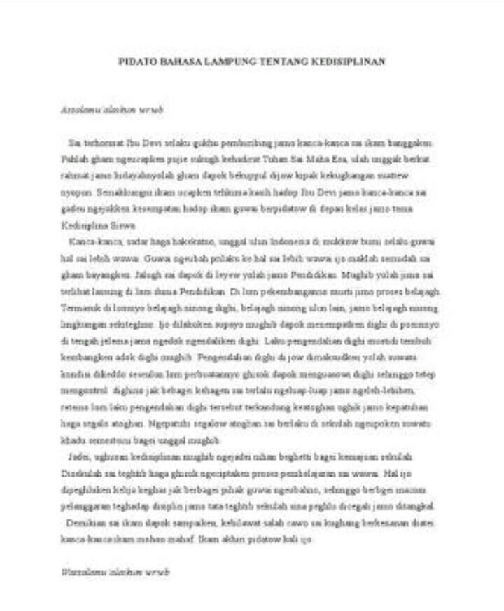 Pidato Bahasa Lampung : pidato, bahasa, lampung, Pidato, Bahasa, Lampung, Singkat, Brainly.co.id