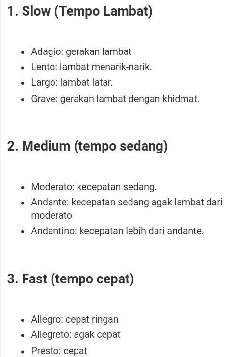 Tempo Sedang Dalam Lagu Disebut : tempo, sedang, dalam, disebut, Contoh, Tempo, Lambat, Adalalah, Brainly.co.id