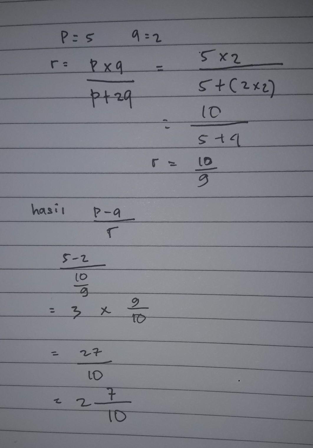 Jika P : Serta, Q/p+2q,tentukan, Hasil, P-q/r, Brainly.co.id