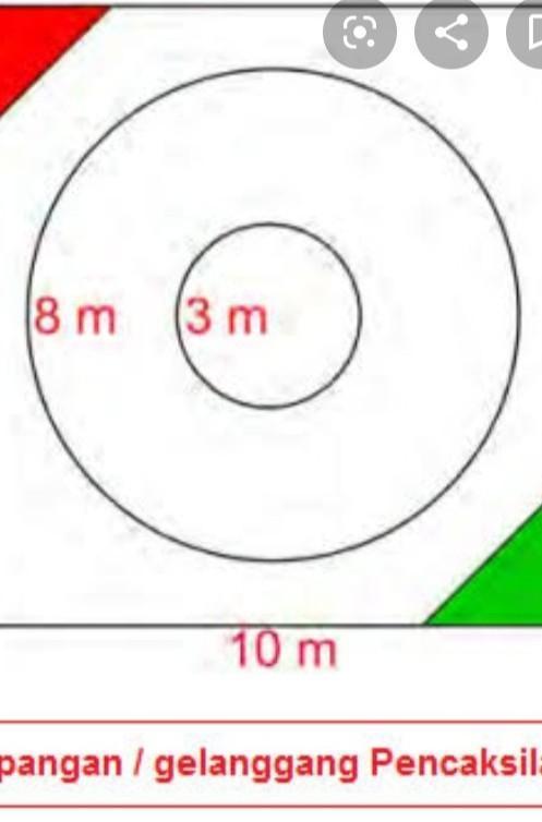 Bidang Laga Untuk Pertandingan Pencak Silat Berukuran : bidang, untuk, pertandingan, pencak, silat, berukuran, Gambarkan, Gelanggang, Pencak, Silat, Beserta, Ukurannya, IlmuSosial.id