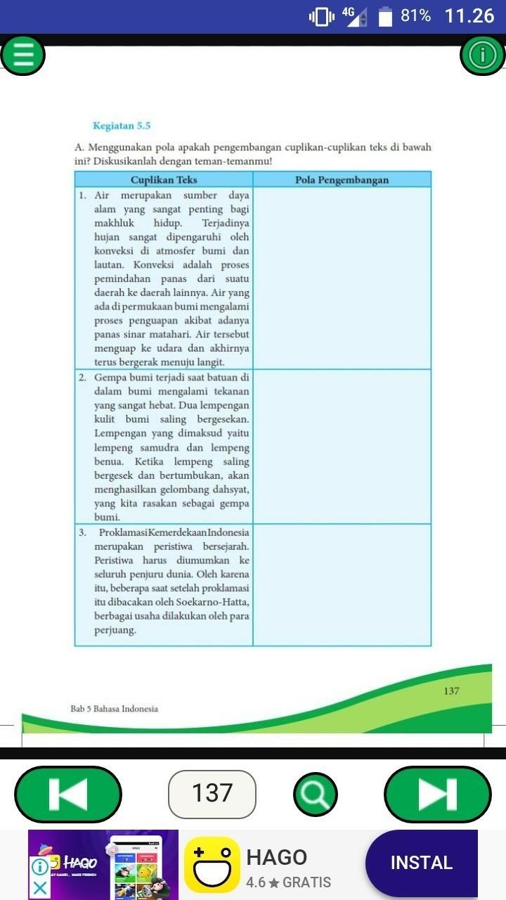 Kegiatan 5.5 Bahasa Indonesia Kelas 8 : kegiatan, bahasa, indonesia, kelas, Kegiatan, B.indonesia, Kelas, Brainly.co.id