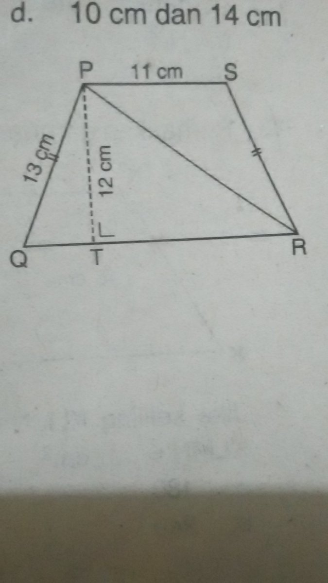 Rumus Trapesium Sama Kaki : rumus, trapesium, Perhatikan, Gambar, Trapesium, Samping., Panjang, Diagonal, Brainly.co.id