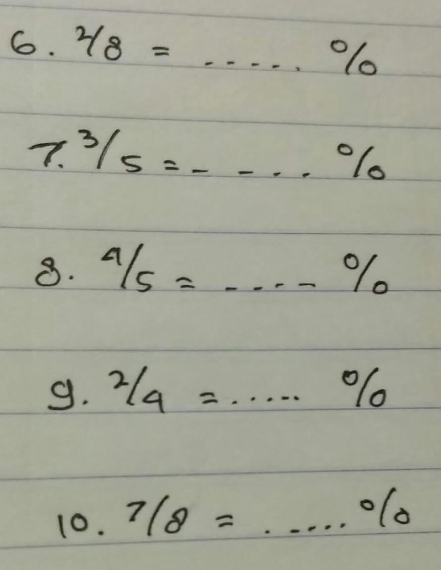 Konversi Pecahan ke Persen - Kalkulator